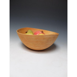 Bowl from maple with...