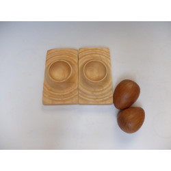 Egg cup from ash wood with...