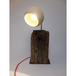 Table lamp from an old oak...