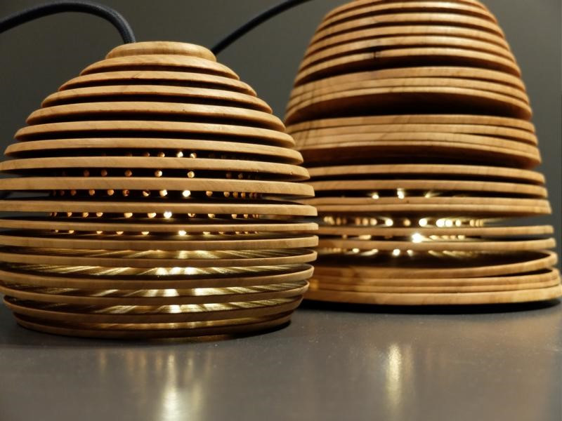 Lights made from wood